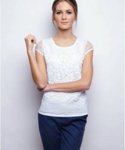 Блуза женская 132138 белый цвет