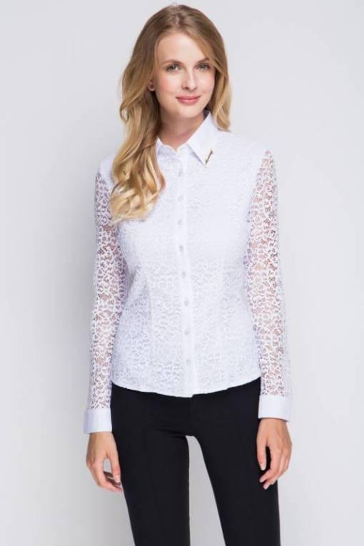 Блузка женская 1337 белый цвет