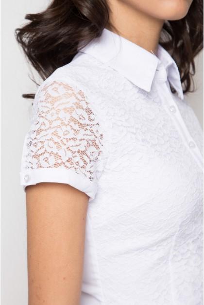 Блузка женская 1337-1 белый цвет