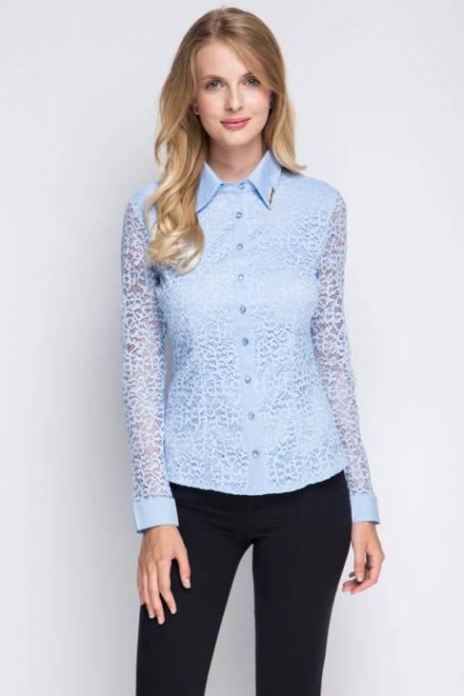 Блузка женская 1337 голубой цвет
