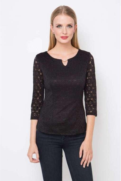 Блуза женская 1601К черный цвет