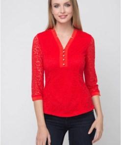 Блуза женская 16161 красный цвет
