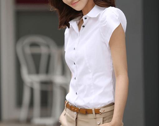 Блузка женская 171712 белый цвет