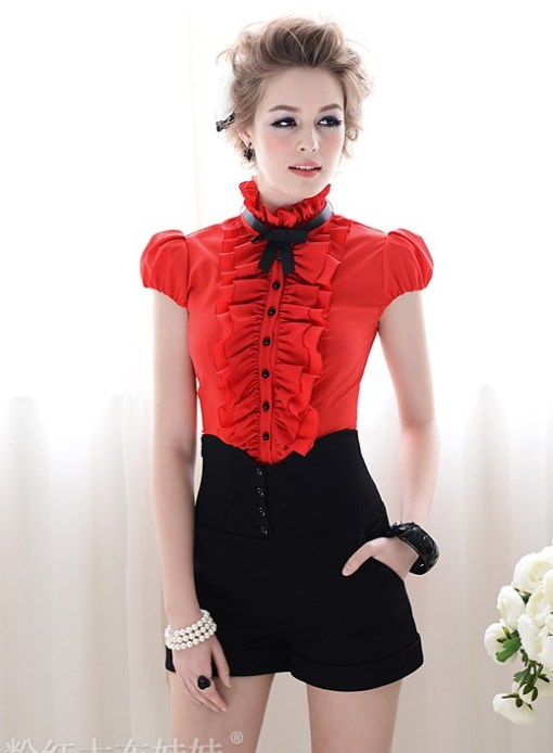 Блузка женская 171716 красный цвет