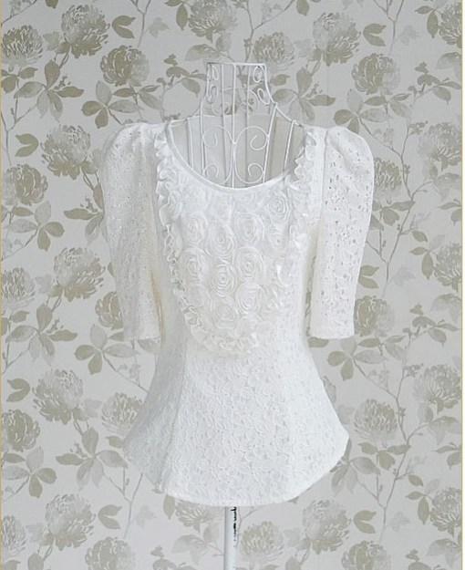 Блуза женская 171727 молочный цвет