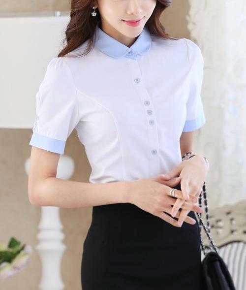 Блузка женская 171738 белый цвет