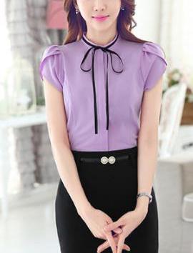 Блузка женская 171742 сиреневый цвет