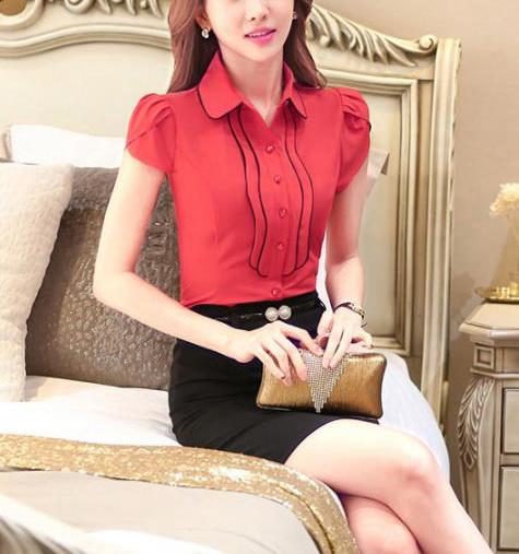 Блузка женская 171749 красный цвет