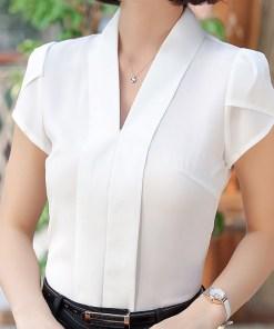 Блуза женская 171758 белый цвет