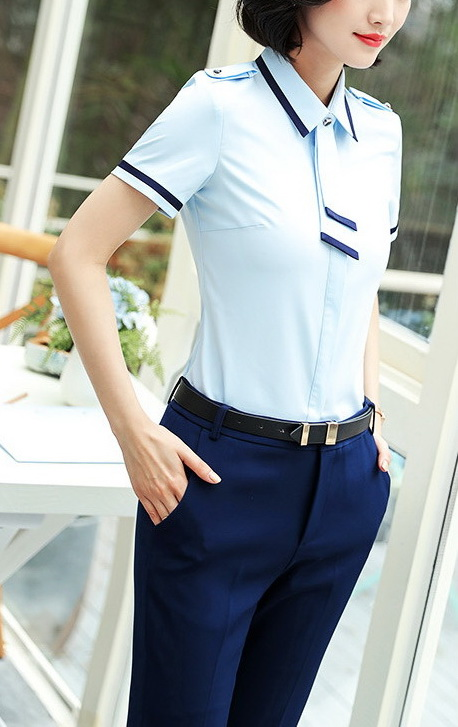 Блузка женская 171759 голубой цвет