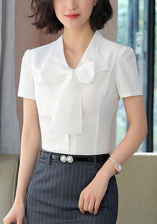 Блузка женская 171762 белый цвет