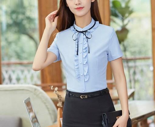 Блузка женская 171763 голубой цвет