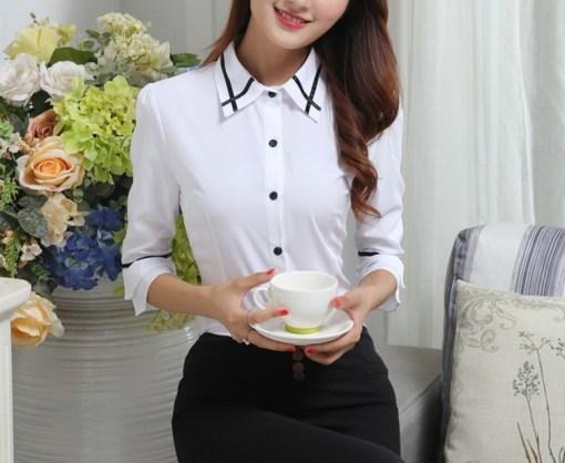 Блузка женская 171766 белый цвет