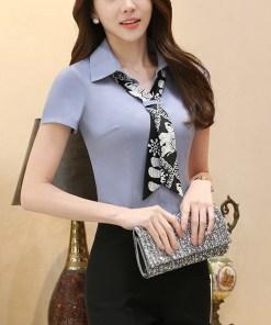 Блуза женская 171768 фиолетово-серый цвет
