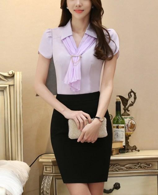 Блуза женская 171769 сиреневый цвет