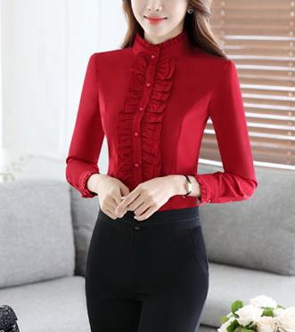 Блузка женская 171784 красный цвет
