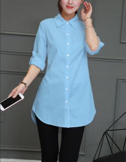 Блузка женская 171788 голубой цвет