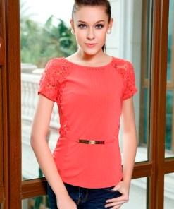 Блуза женская 321-1389 коралловый цвет