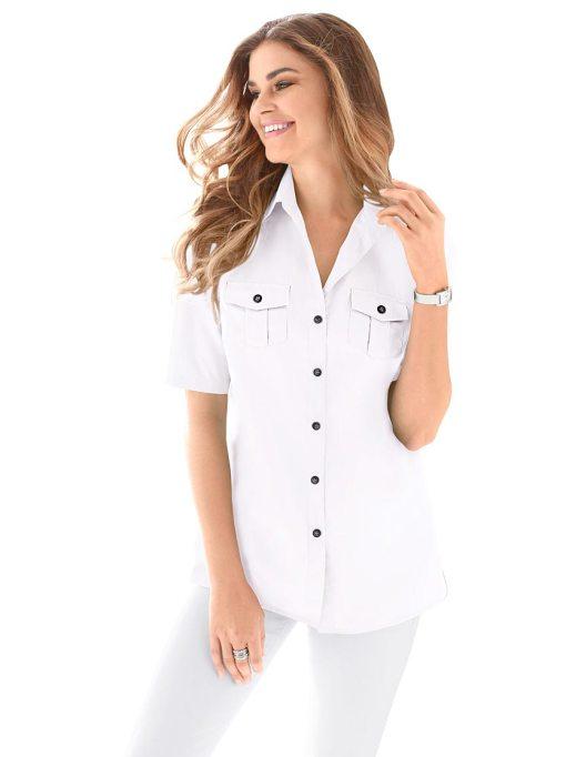 Блузка женская 690194 белый цвет