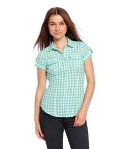 Блузка женская 87274 зеленая клетка