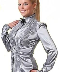 Блузка женская Аиша стальной цвет