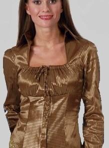 Блузка женская Королева золотисто-черный цвет