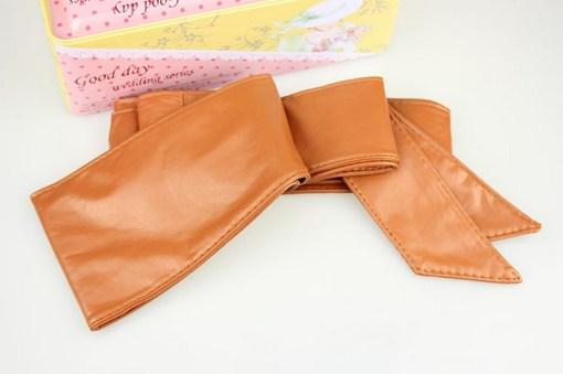 Пояс-кушак коричневый цвет