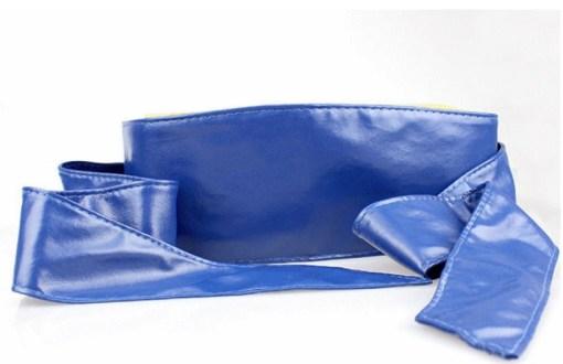 Пояс-кушак синий цвет