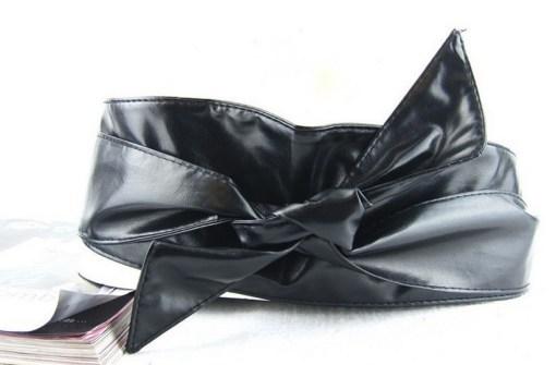Пояс-кушак черный цвет