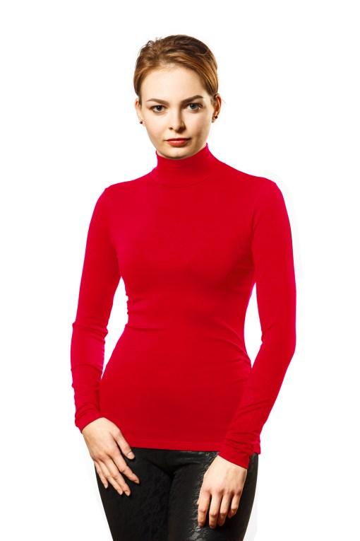 Водолазка женская 1411 красный цвет