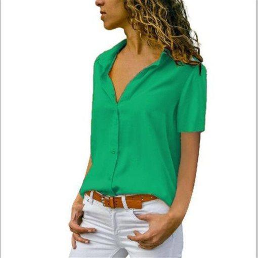 Блузка женская 1717100 зеленый цвет