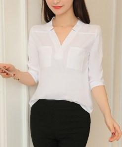 Блузка женская 171797 белый цвет