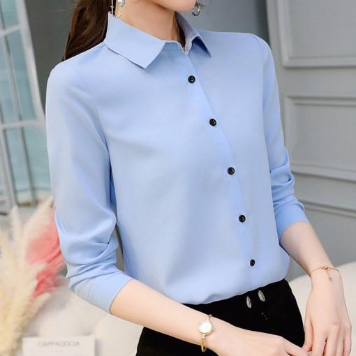 Блузка женская 1717101 голубой цвет