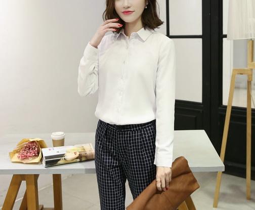 Блузка женская 1717102 белый цвет