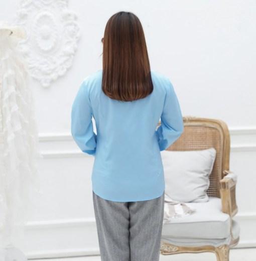 Блузка женская 1717105 голубой цвет