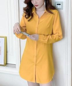 Рубашка женская 1717109 желтый цвет