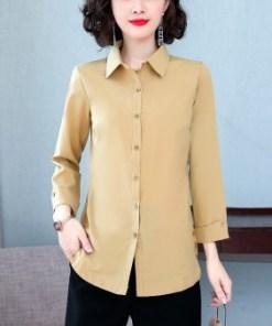 Рубашка женская 1717113 бежевый цвет
