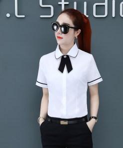 Рубашка женская 1717116 белый цвет