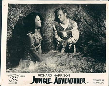 Temple of the Thousand Lights lobby card, with Richard Harrison and Luciana Gilli