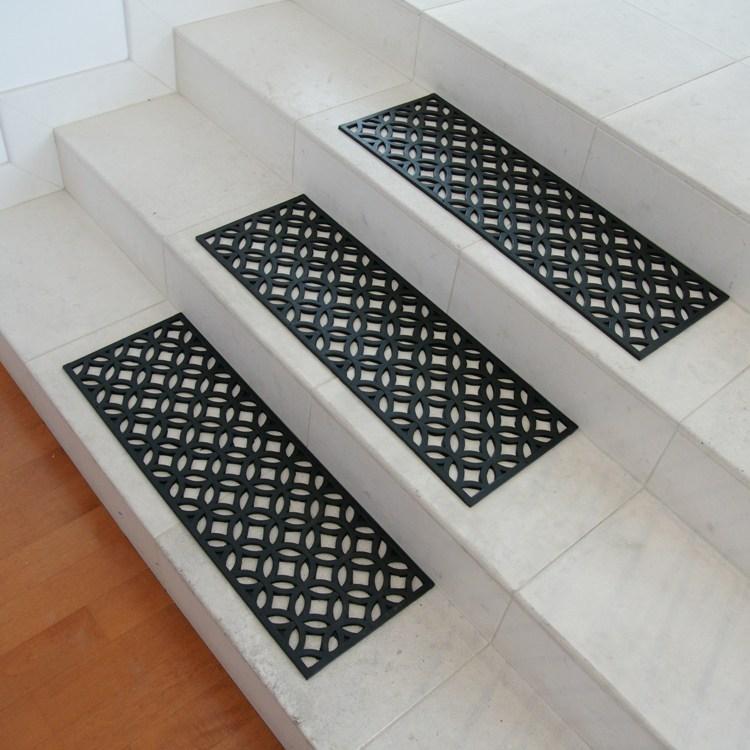 Azteca Indoor Outdoor Stair Treads   Indoor Outdoor Stair Treads   Rubber Cal   Slip Backing   Waterhog   Nance Industries   Ellsworth Indoor