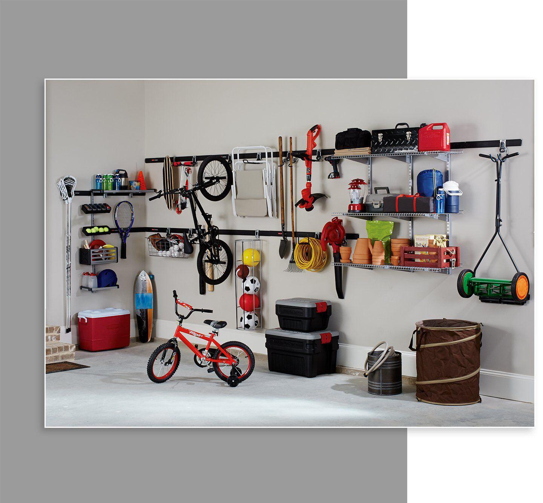 garage shelving wall panels rails