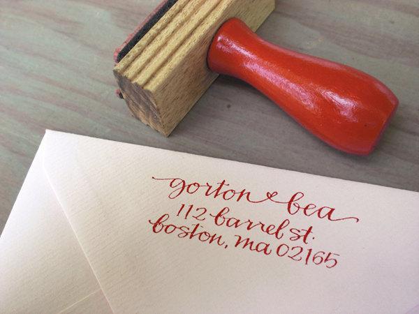 Diy Invites Rubber Stamp Wedding Invitation Set With Rsvp Save