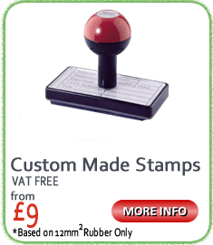 Speedy Rubber Stamps - custom rubber stamps in two hours, 7 days a week. #1 Rubber Stamps supplier in the UK. Free Delivery. VAT Free!