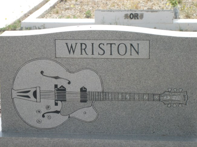 I think Wriston liked guitars. I would guess s/he played. But that's just a guess.