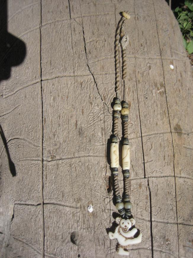 This is what the camp host's necklace looked like before I rehabbed it.