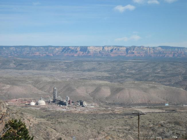 This photo shows a view of the mine from the Jerome State Historic Park.