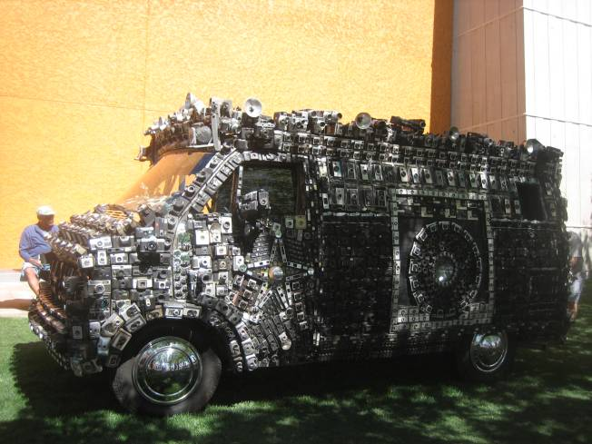 Van is entirely covered in cameras!