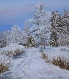 <h5>Ziema</h5><p>Ziema / 60x70cm / Audekls / Eļļa / 2015 </p>