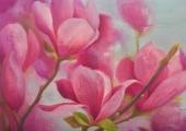 <h5>Magnolijas</h5><p>70x100cm / Audekls / Eļļa / 2017</p>