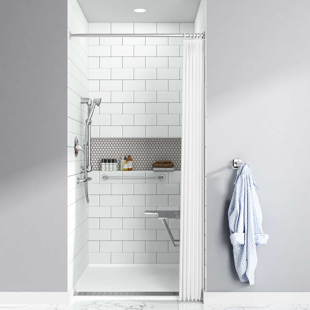 The Townsend 38×38 Inch Solid Surface Shower Base By American Standard Is A  Long Lasting, Durable Shower Base That Will Stay Looking Like New For Years  ...